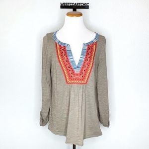 Anthropologie Meadow Rue Cuoco Henley Size Large